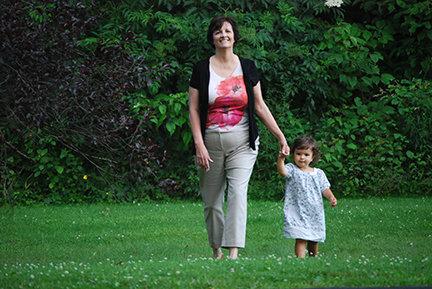 Grace and Nana powerwalking